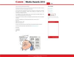 Canon Media Awards 2013